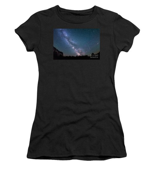 Meteor Milky Way  Women's T-Shirt (Athletic Fit)
