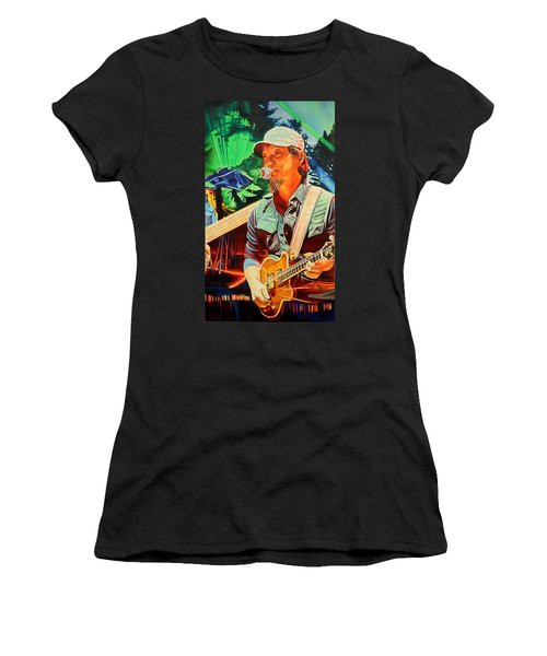 Women's T-Shirt (Junior Cut) featuring the painting Michael Kang At Horning's Hideout by Joshua Morton
