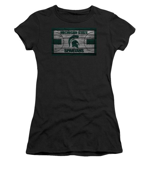 Michigan State Spartans Women's T-Shirt (Athletic Fit)