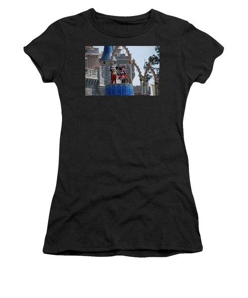 Mickey And Minnie In Living Color Women's T-Shirt (Athletic Fit)