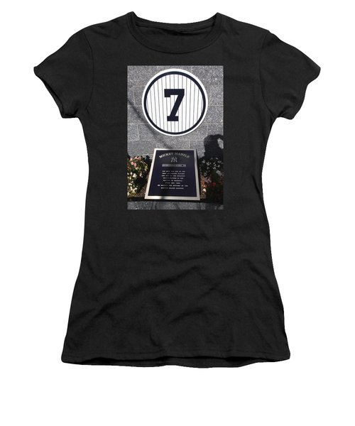 Mickey Mantle Women's T-Shirt (Junior Cut) by Allen Beatty