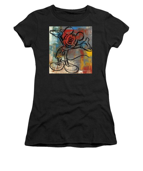 Mickey Mouse Sketchy Hello Women's T-Shirt