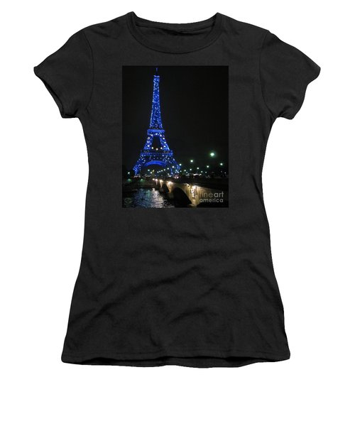 Women's T-Shirt (Junior Cut) featuring the photograph Midnight Blue by Suzanne Oesterling