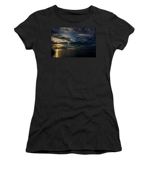 Midnight Sun Over Cook Inlet Women's T-Shirt (Junior Cut) by Andrew Matwijec