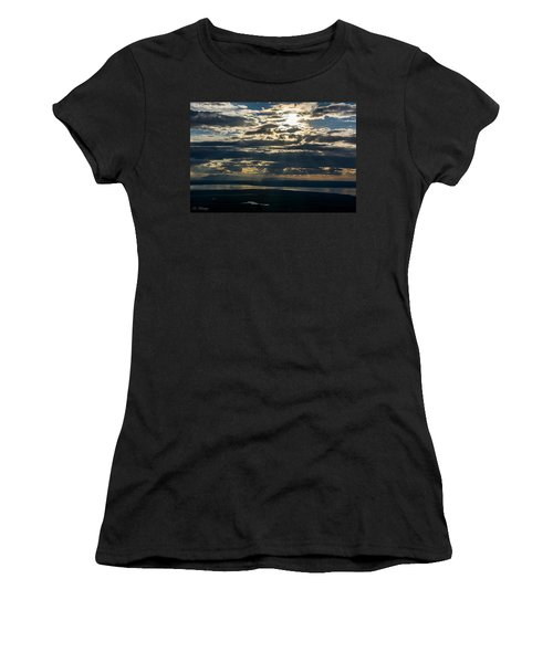 Midnight Sun Over Mount Susitna Women's T-Shirt (Athletic Fit)