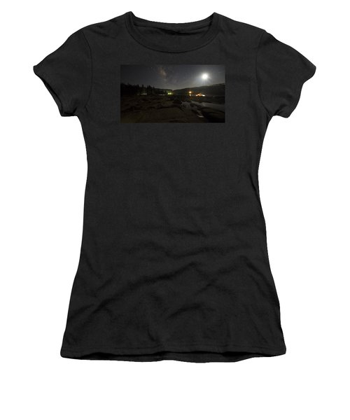 Milky-way Over Plasse's Resort - Silver Lake Women's T-Shirt (Athletic Fit)