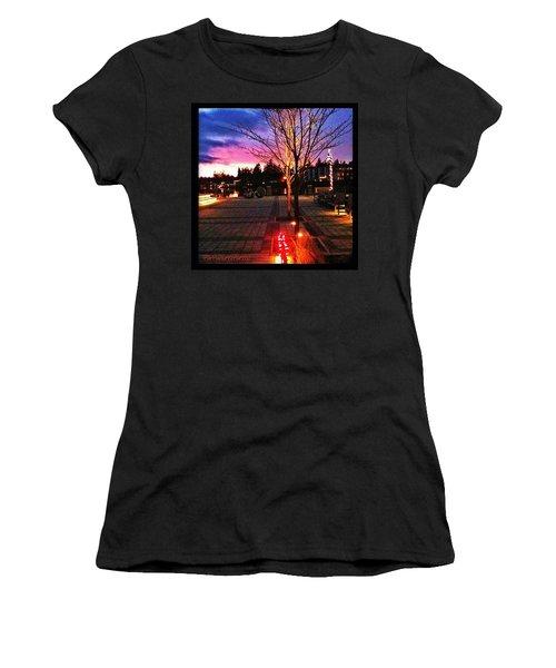 Millennium Park Plaza At Sunset Women's T-Shirt