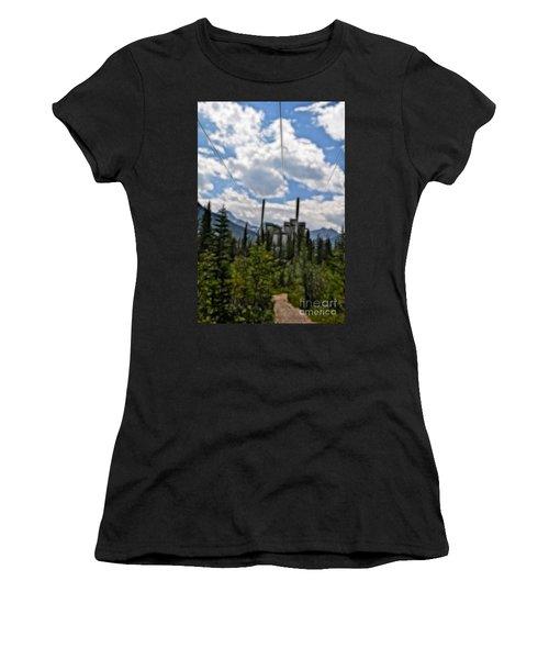 Mining Plant Fractal Women's T-Shirt (Athletic Fit)