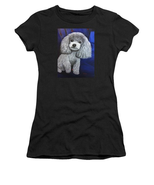 Women's T-Shirt featuring the painting Minnie by Karen Zuk Rosenblatt