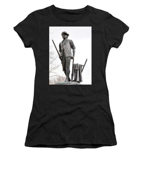 Minute Man Statue Women's T-Shirt (Athletic Fit)