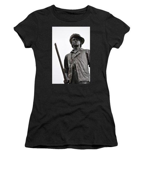 Minute Man Statue Concord Massachusetts Women's T-Shirt (Athletic Fit)