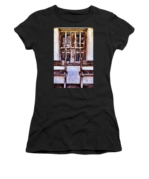 Mission Soledad Window Seating By Diana Sainz Women's T-Shirt