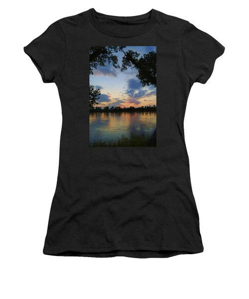 Missouri River Glow Women's T-Shirt (Junior Cut) by Cricket Hackmann