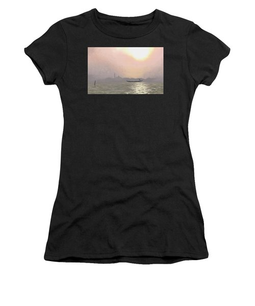 Misty Lagoona 34 X 47 Women's T-Shirt (Athletic Fit)