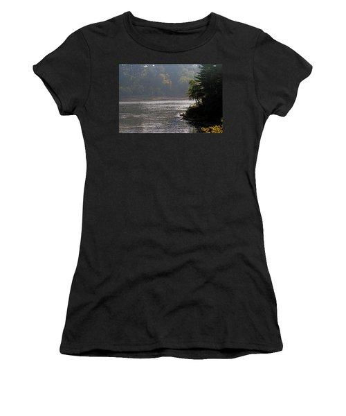 Women's T-Shirt (Junior Cut) featuring the photograph Misty Morning by Kay Novy