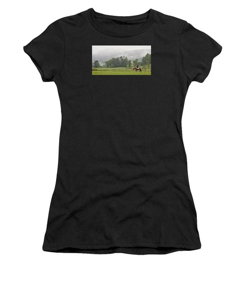 Misty Morning Ride Women's T-Shirt (Athletic Fit)