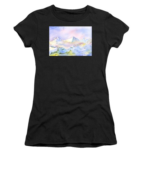 Misty Mountain Women's T-Shirt (Athletic Fit)
