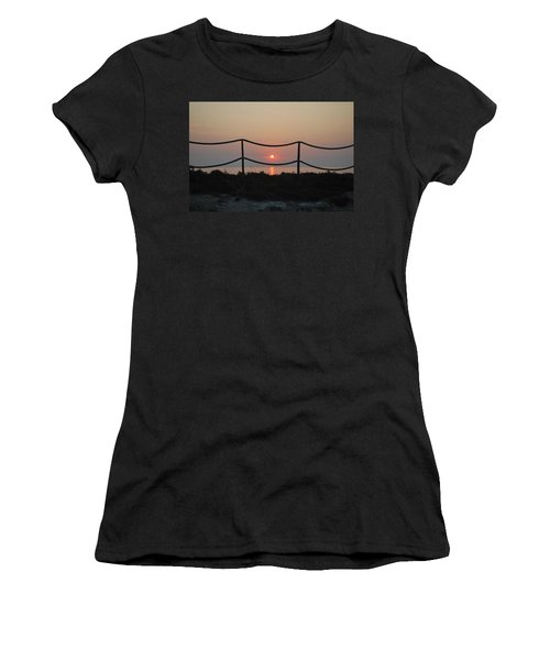 Misty Sunset 1 Women's T-Shirt (Junior Cut) by George Katechis