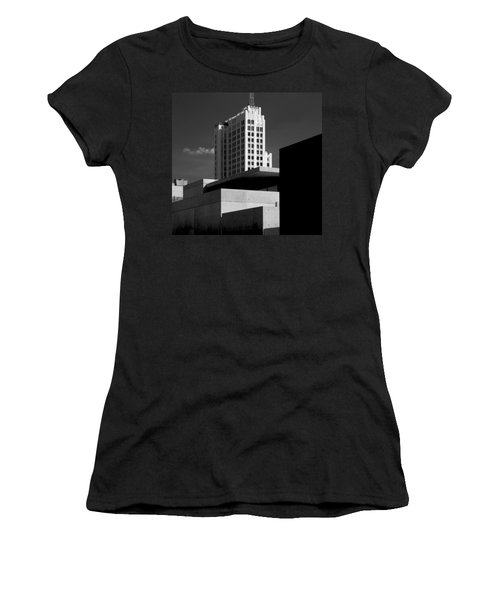 Modern Art Deco Architecture Black White Women's T-Shirt