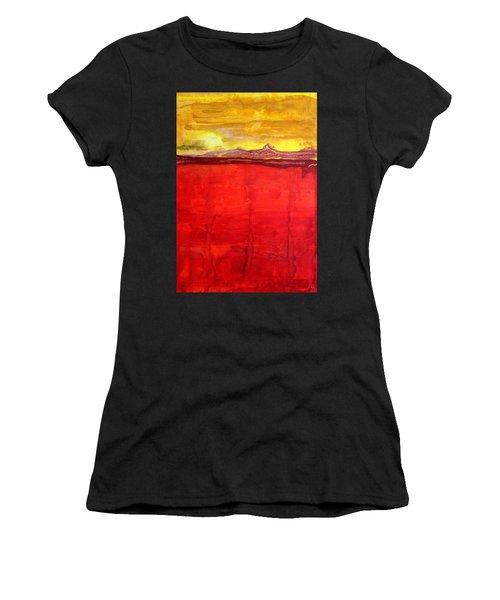 Mojave Dawn Original Painting Women's T-Shirt