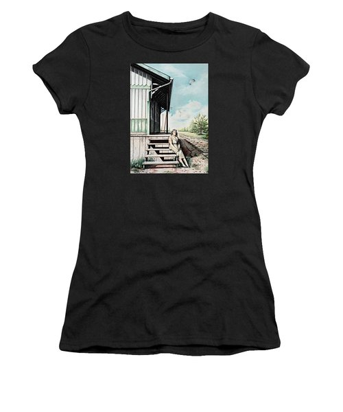 Mom With Rose Women's T-Shirt
