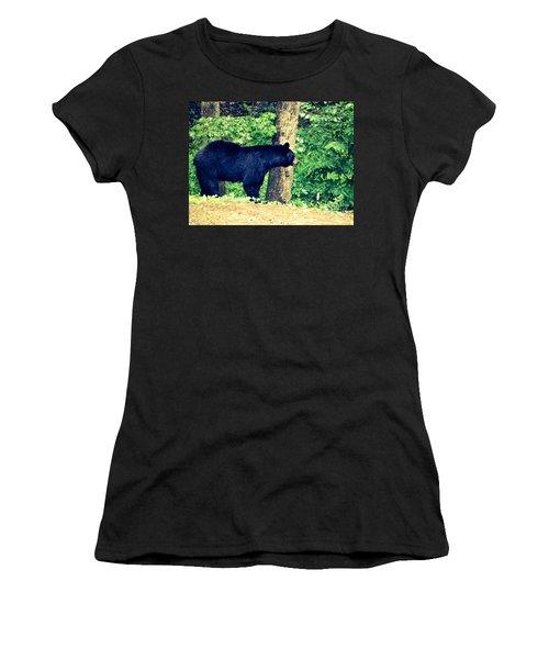 Women's T-Shirt (Junior Cut) featuring the photograph Momma Bear by Jan Dappen