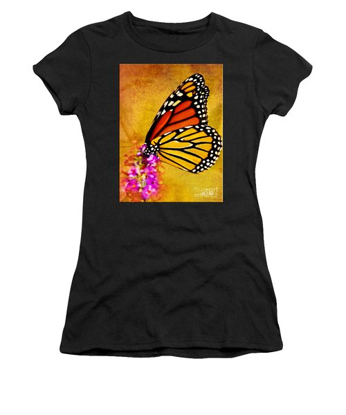 Monarch Butterfly Color Splash Sunset Women's T-Shirt (Athletic Fit)