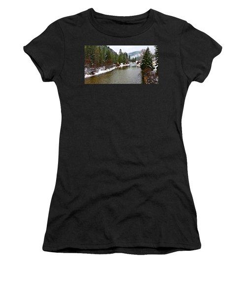 Montana Winter Women's T-Shirt (Athletic Fit)