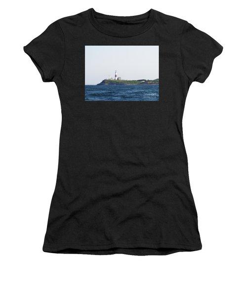 Montauk Lighthouse From The Atlantic Ocean Women's T-Shirt (Athletic Fit)