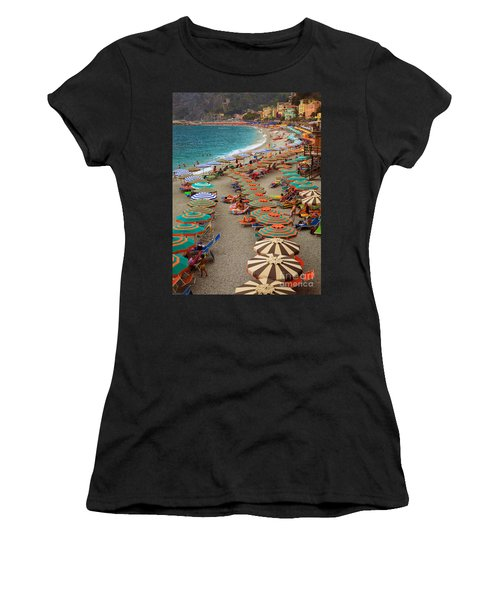 Monterosso Beach Women's T-Shirt (Athletic Fit)