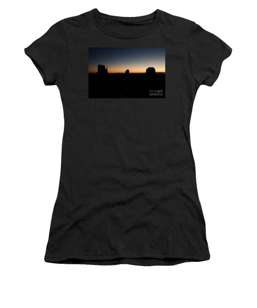 Women's T-Shirt (Junior Cut) featuring the photograph Monument Valley Sunrise by Jeff Kolker