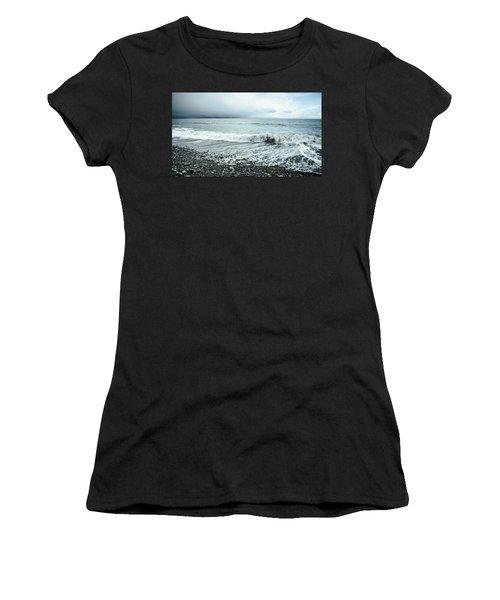 Moody Shoreline French Beach Women's T-Shirt