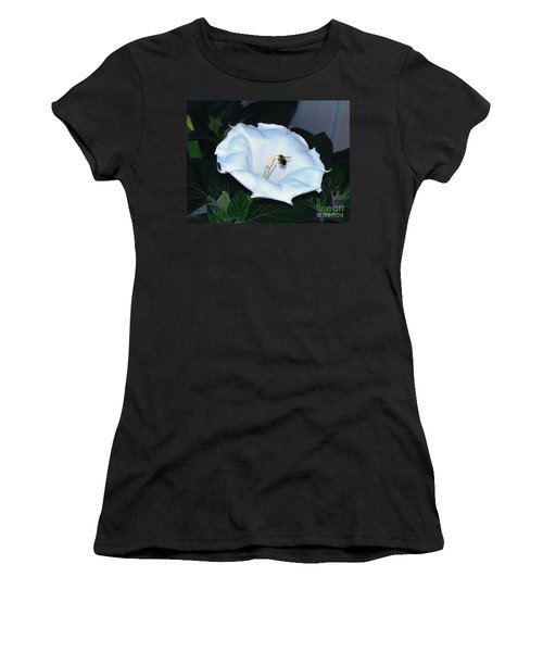 Women's T-Shirt (Junior Cut) featuring the photograph Moon Flower by Thomas Woolworth