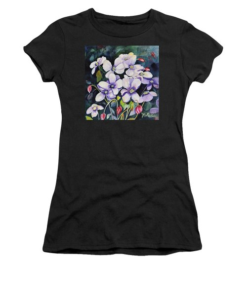 Moon Flowers Women's T-Shirt (Athletic Fit)