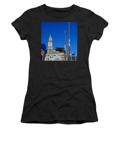 Moon Over Boston Women's T-Shirt