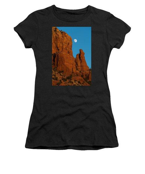 Moon Over Chicken Point Women's T-Shirt