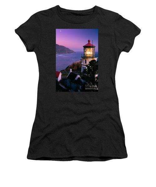 Moon Over Heceta Head Women's T-Shirt
