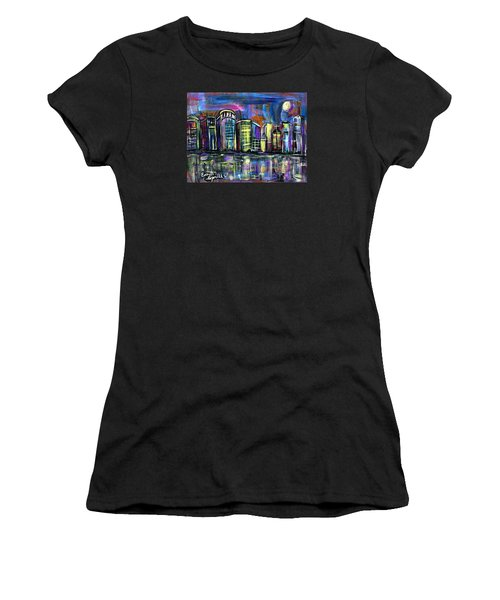 Moon Over Orlando Women's T-Shirt (Junior Cut)