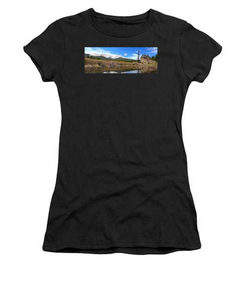 Moon Over St. Malo Women's T-Shirt (Athletic Fit)