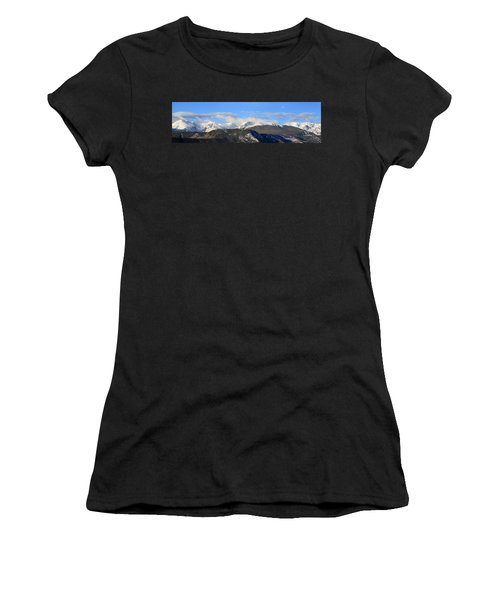 Moon Over The Rockies - Panorama Women's T-Shirt (Athletic Fit)