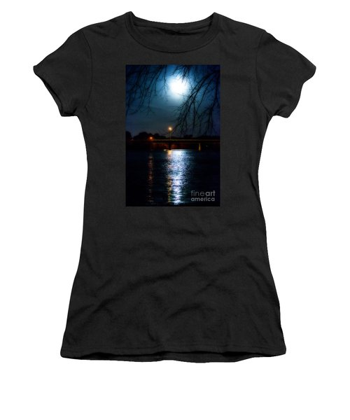 Moon Set Lake Pleasurehouse Women's T-Shirt (Athletic Fit)