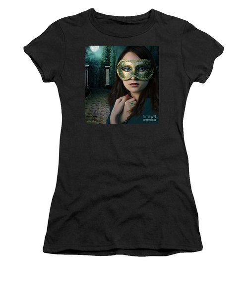 Moonlight Rendezvous Women's T-Shirt (Athletic Fit)