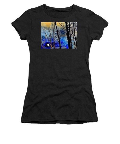 Moonlit Frosty Limbs Women's T-Shirt (Athletic Fit)