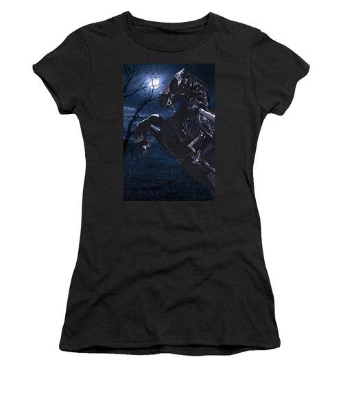 Moonlit Warrior Women's T-Shirt (Athletic Fit)
