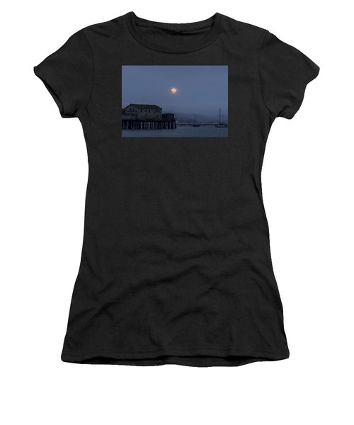 Moonrise Over The Harbor Women's T-Shirt (Athletic Fit)