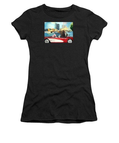 Moose Rapids Il Women's T-Shirt (Athletic Fit)