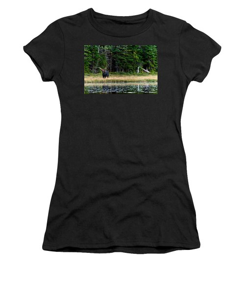 Moose Women's T-Shirt (Athletic Fit)