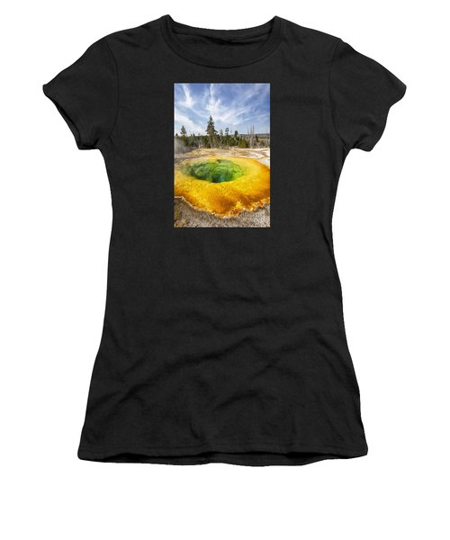 Morning Glory Pool In Yellowstone National Park Women's T-Shirt (Athletic Fit)
