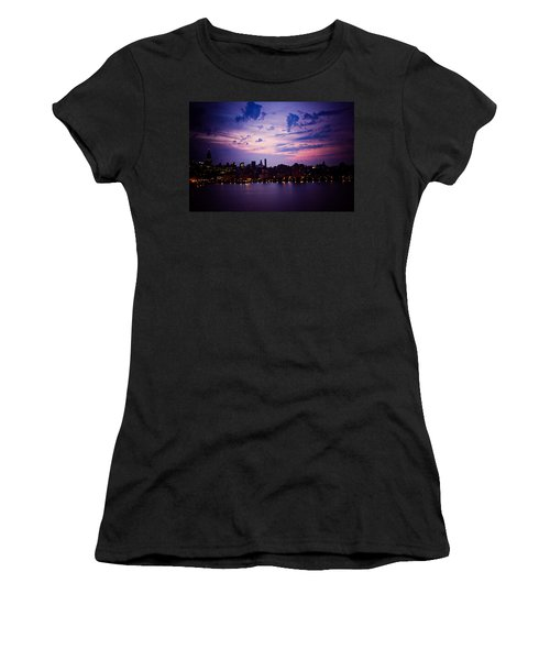 Women's T-Shirt (Junior Cut) featuring the photograph Morning Glory by Sara Frank