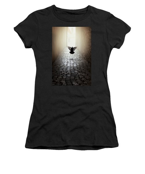 Morning Impression With A Dove Women's T-Shirt (Athletic Fit)